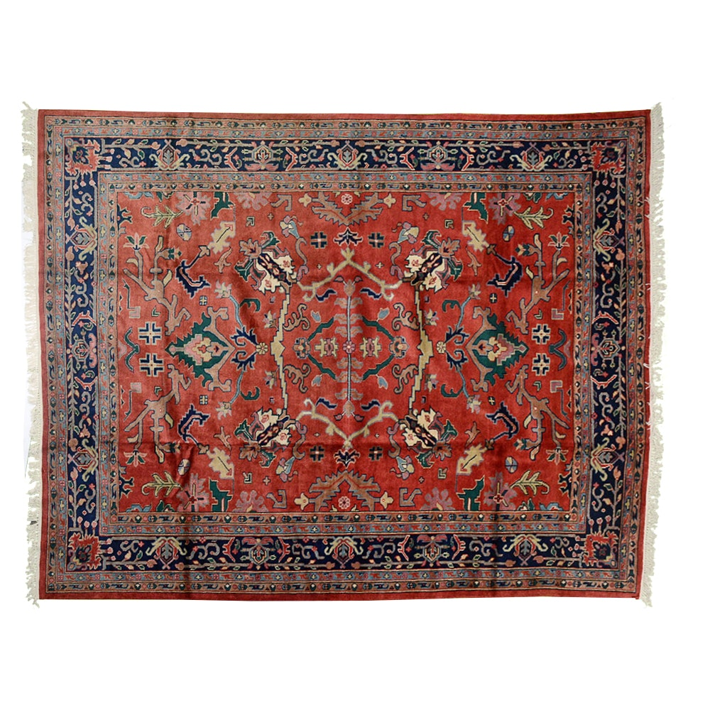 Hand Knotted Iranian Mahal Wool Area Rug
