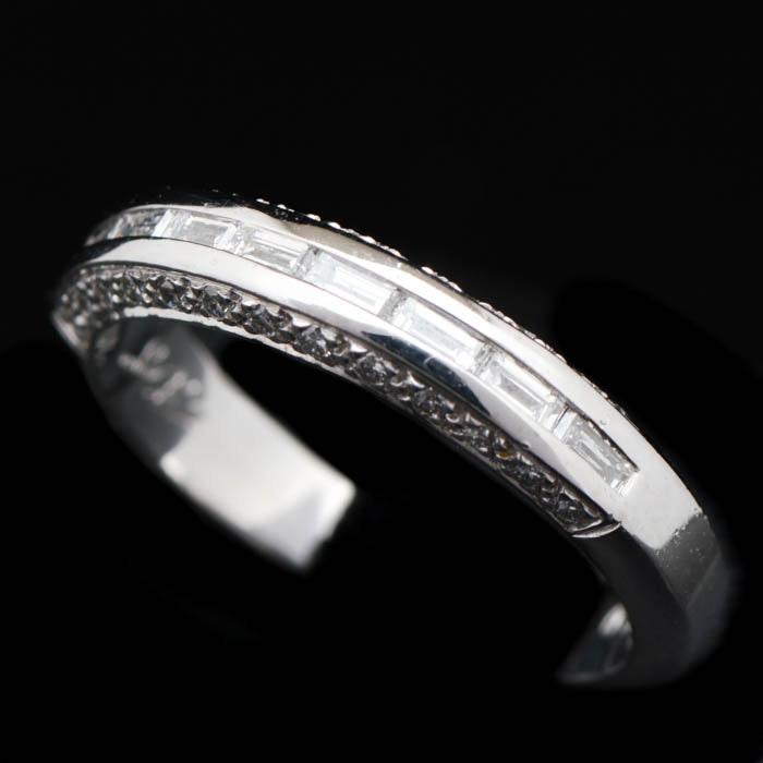 0.50 CTW Diamond and Platinum Wedding Band