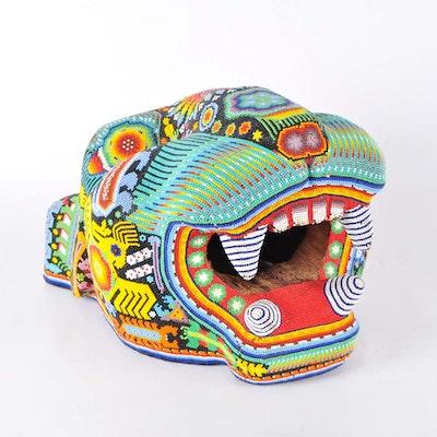 Huichol Jaguar Head