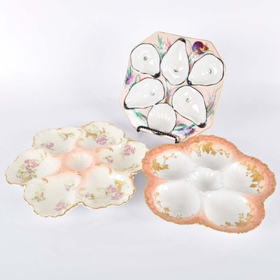 Limoges Oyster Plates