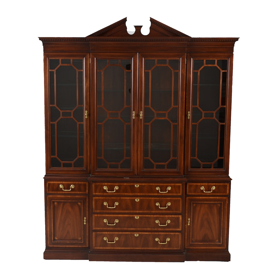 Mahogany Breakfront China Cabinet by White Furniture EBTH