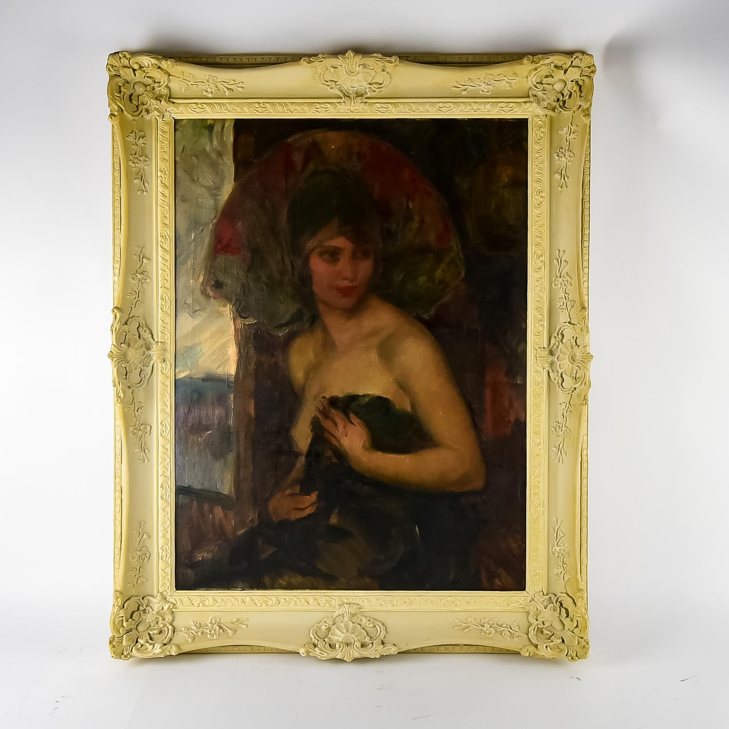 Attributed to Philip Hermogenes Calderon Oil on Canvas Painting