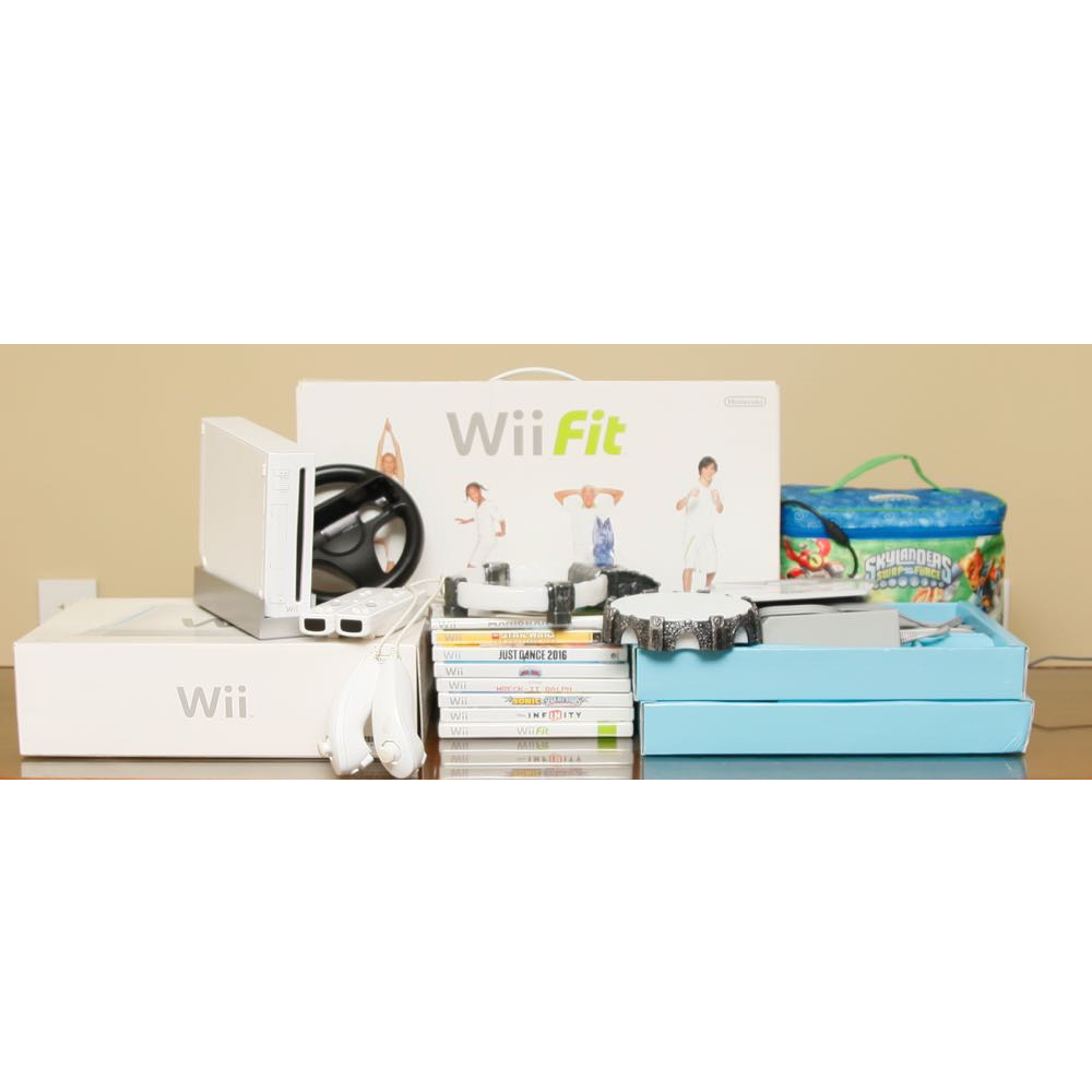 Wii Game Console With Games And Accessories