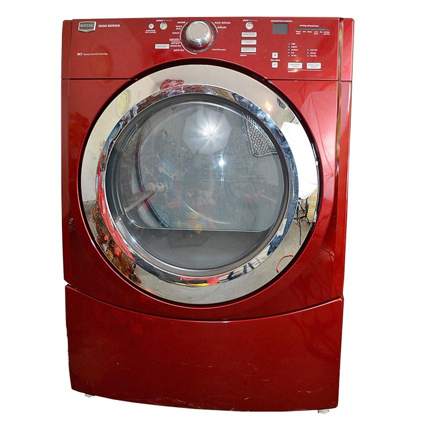 Red Maytag 3000 Series Gas Dryer