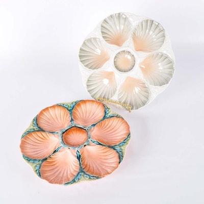 Sarreguemines Oyster Plates