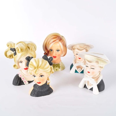 Collection of Vintage Head Vases