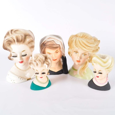 Collection of Vintage Inarco Head Vases