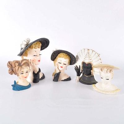 Collection of Vintage Napco Head Vases