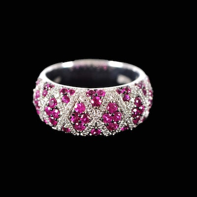 14K Gold Diamond and Ruby Ring