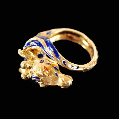18K Gold Giraffe Ring