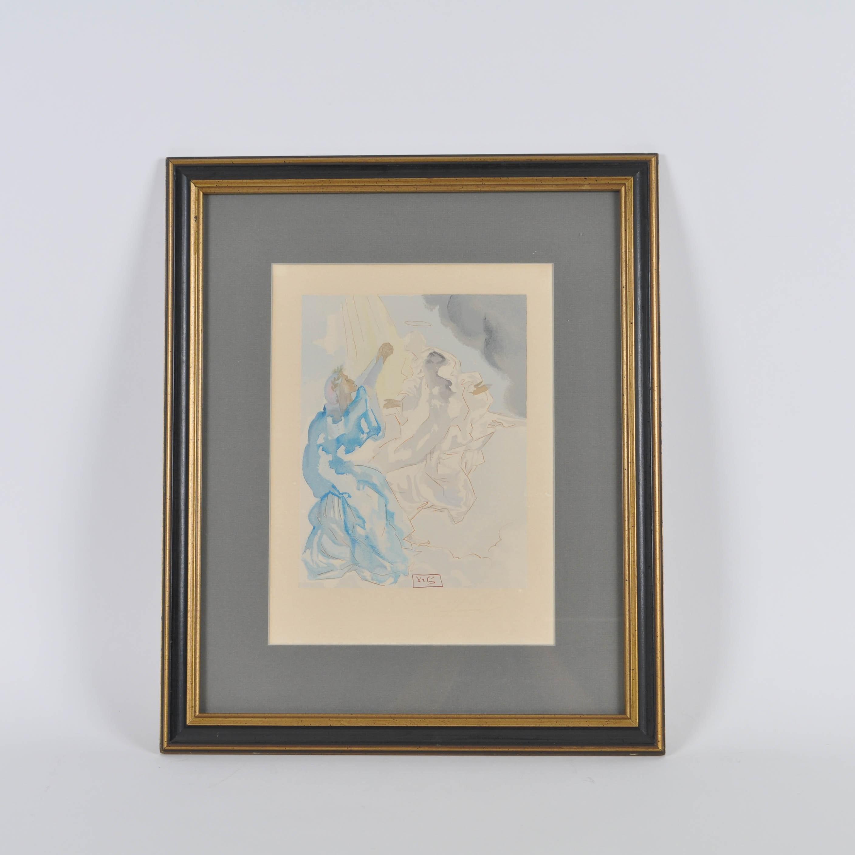 Original Salvador Dali Watercolor for Opera in Paris
