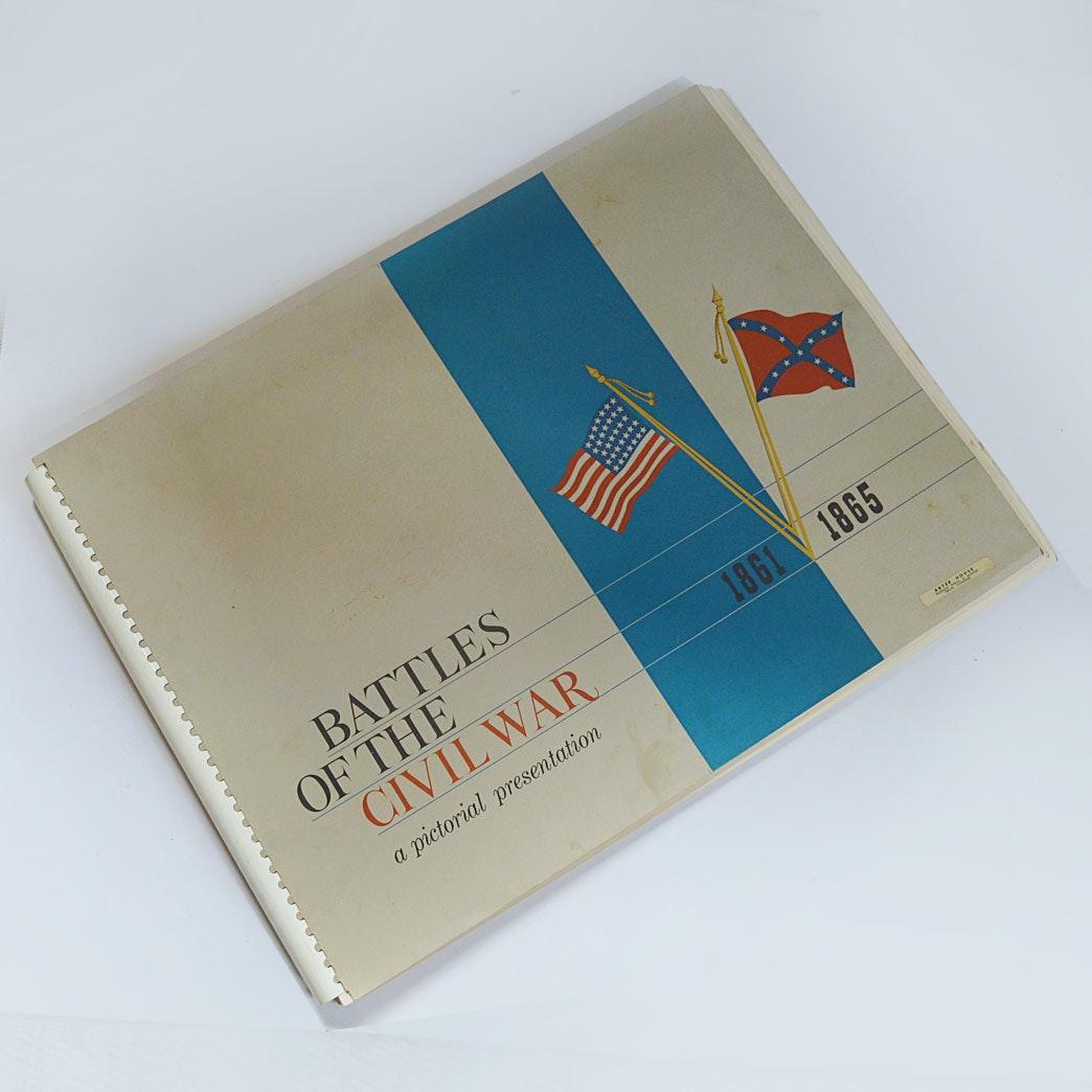 """Oversized Volume of """"Battles of the Civil War"""""""