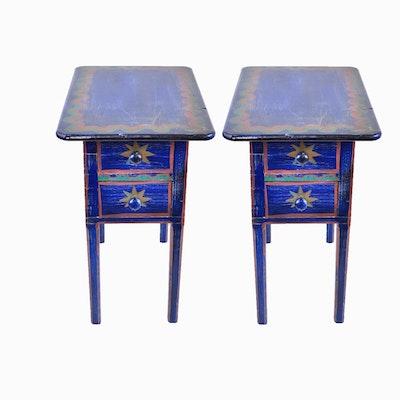 Pair of Moroccan Inspired Nightstands