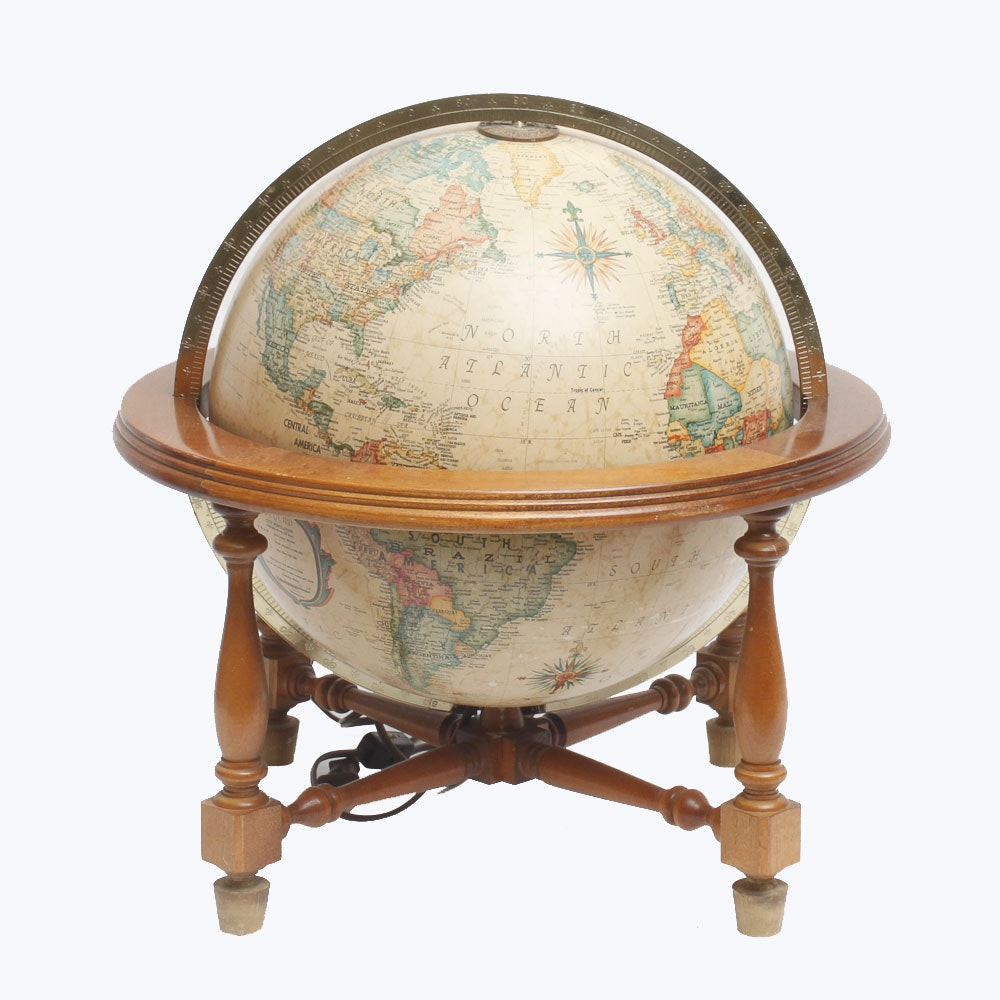 Mid Century Light Up Globe