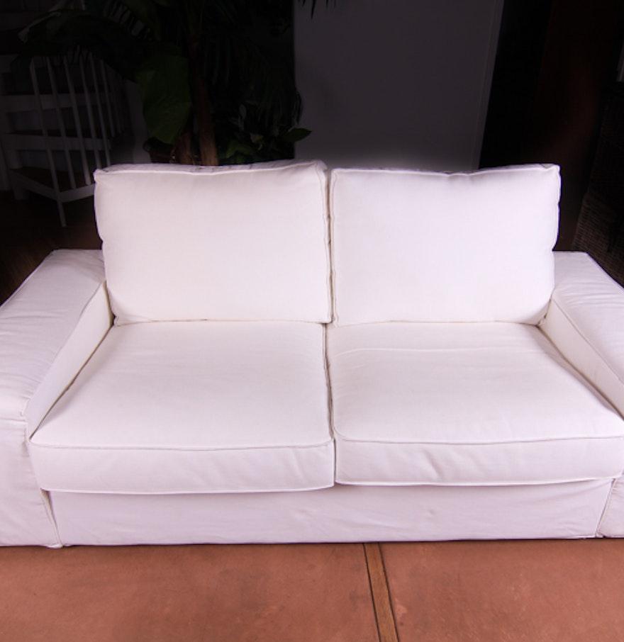 White Ikea Sofa Ebth