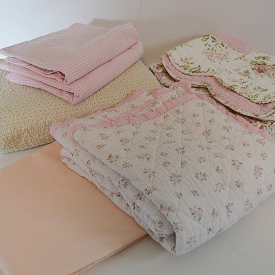 Ralph Lauren Pottery Barn Bed Linens In Pink Fls And Gingham