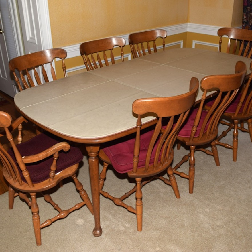 S Bent Hard Rock Maple Dining Table And Chairs Ebth
