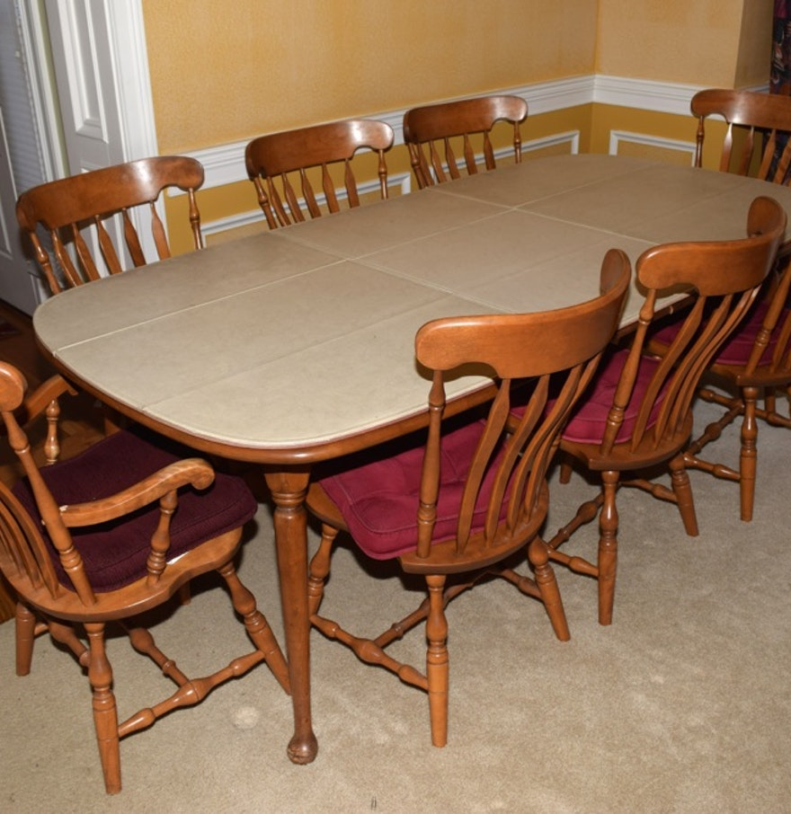 Maple Kitchen Table And Chairs S Bent Hard Rock Maple Dining Table And Chairs Ebth
