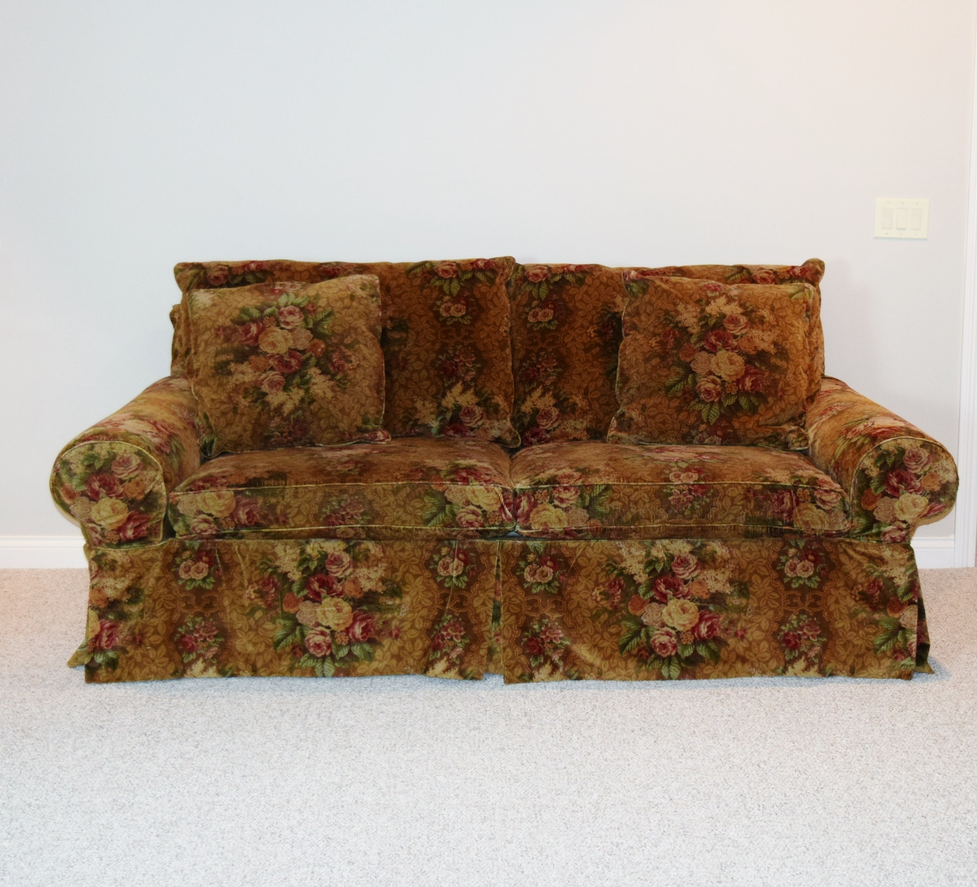 Henredon Corduroy Slipcovered Sofa