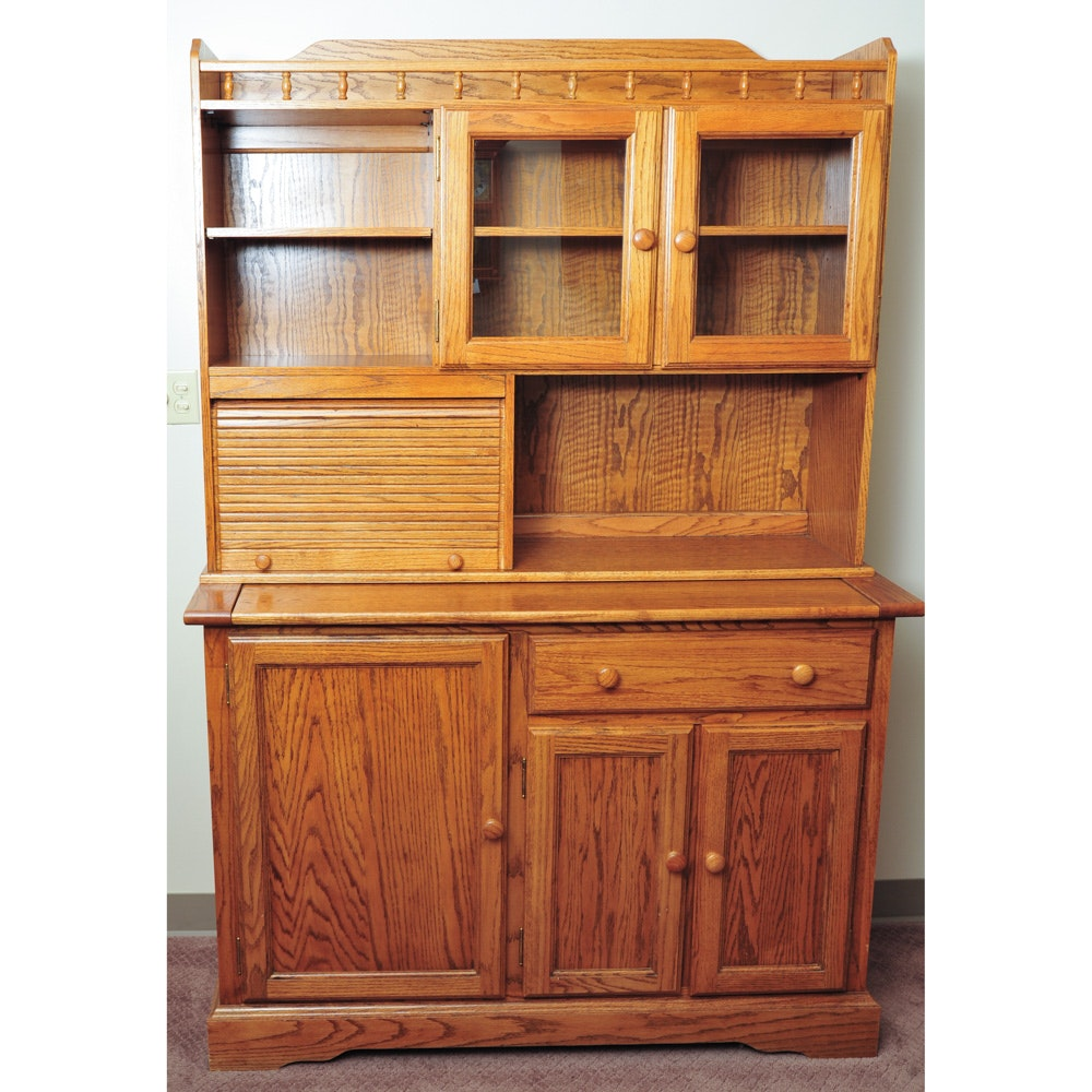 Oak Hoosier Cabinet ...  sc 1 st  EBTH.com & Oak Hoosier Cabinet : EBTH
