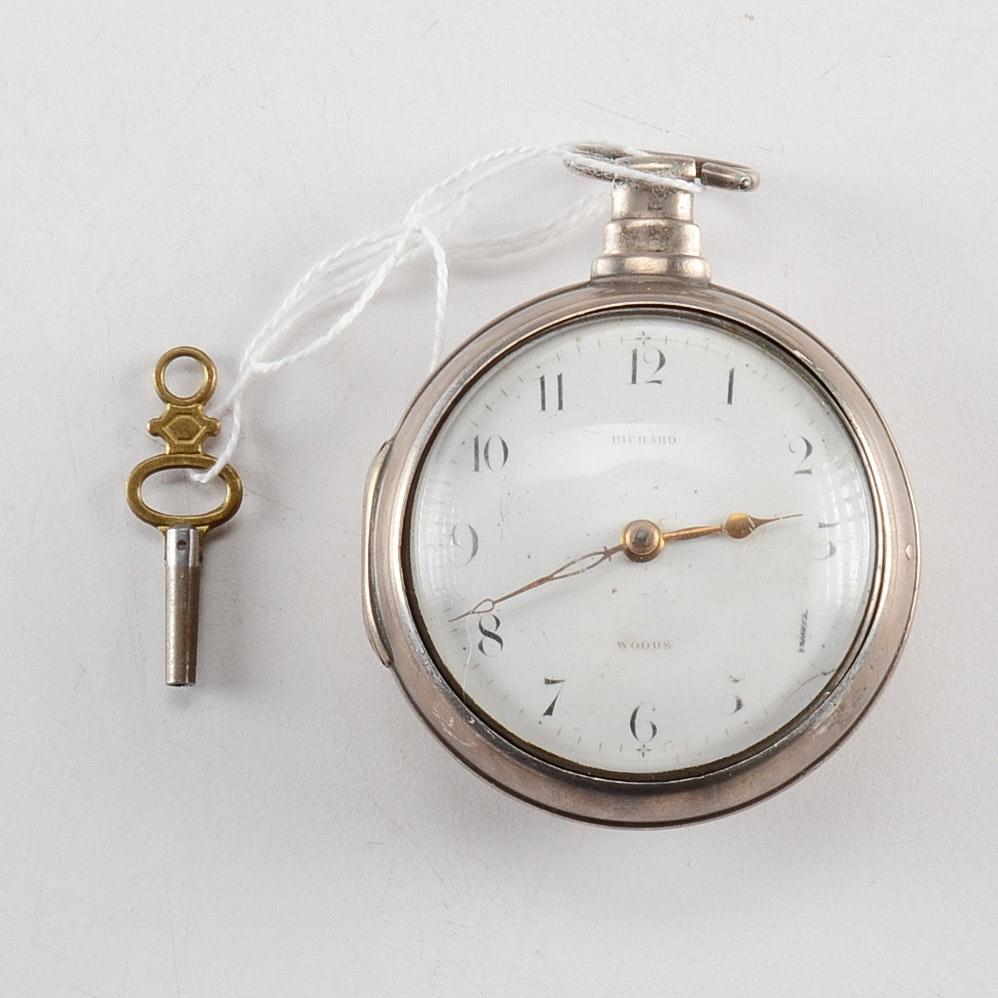 1807 John Wood Keywound Pocket Watch