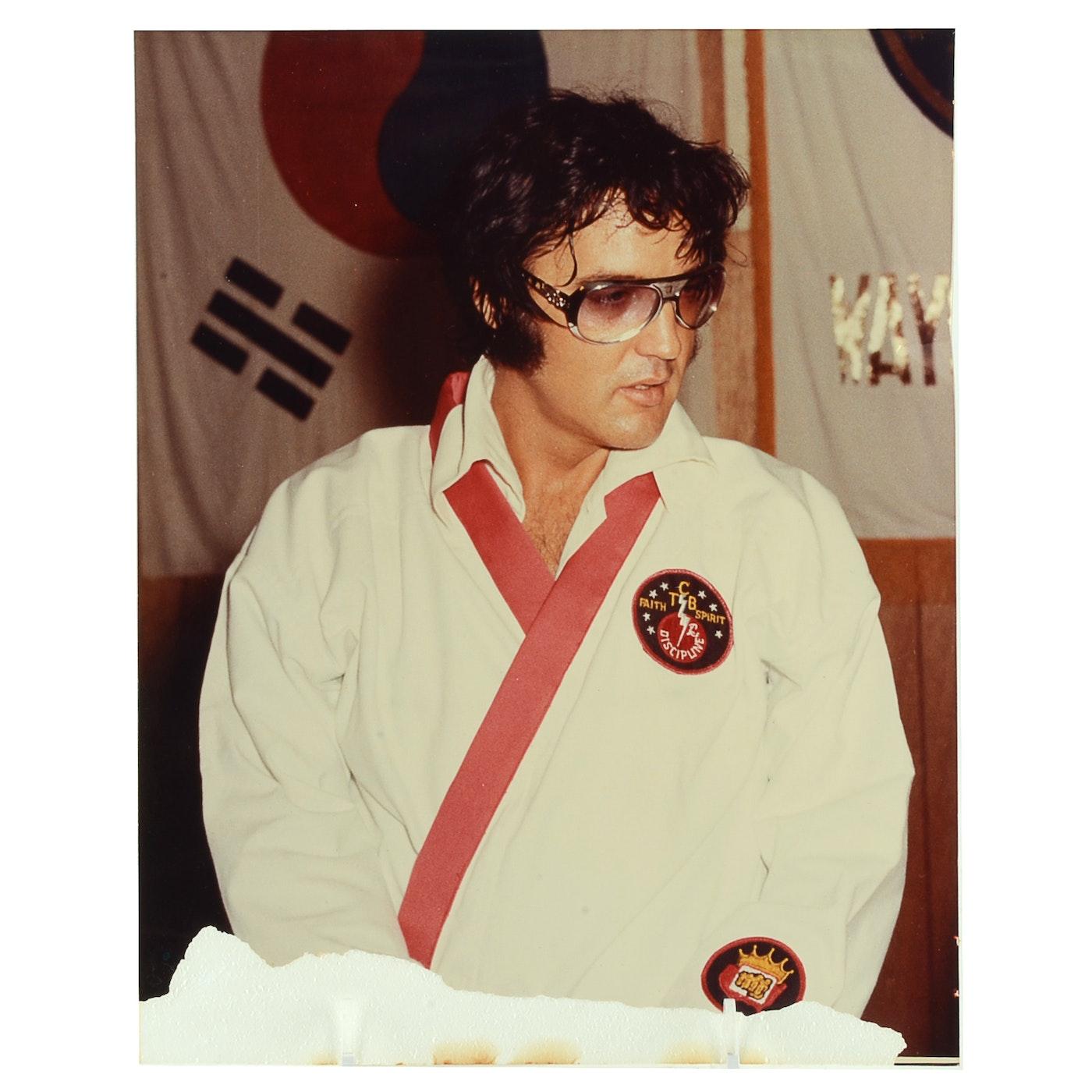 1970s Vintage Color Photograph Of Elvis Presley Wearing