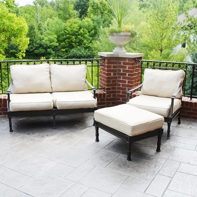 Captivating Restoration Hardware Patio Antibes Sofa, Chair, And Ottoman ...