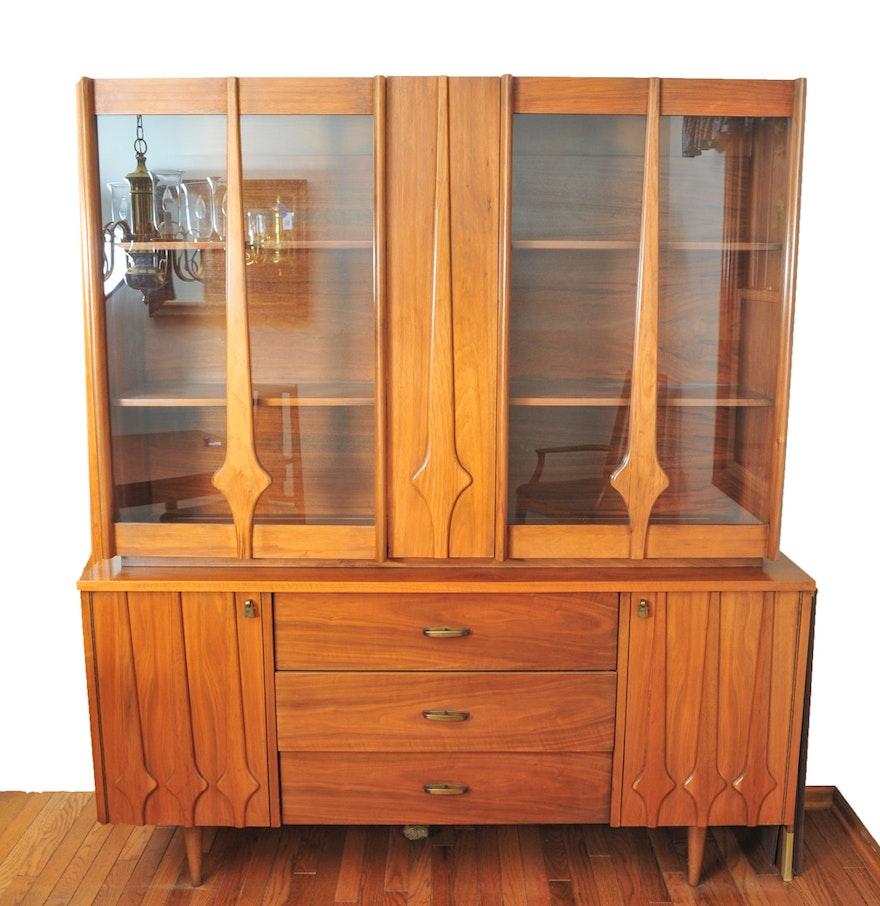 Mid Century Modern Teak Wood China Cabinet : EBTH