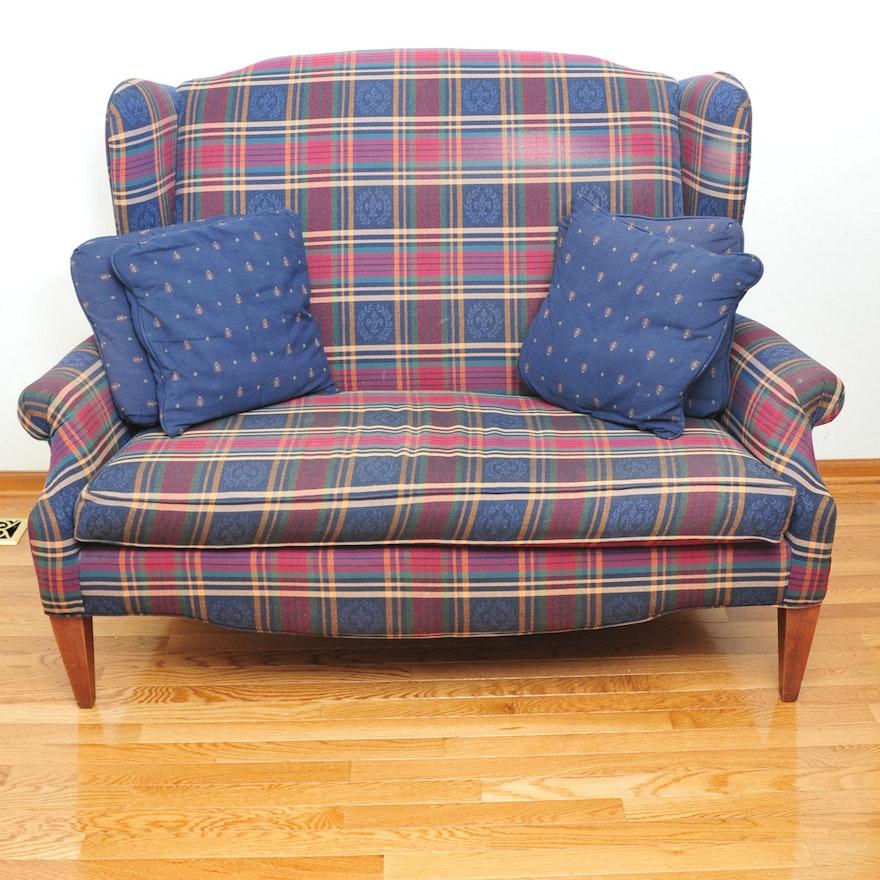Wingback Loveseat Sofa Furniture Of America Janey Ivory On