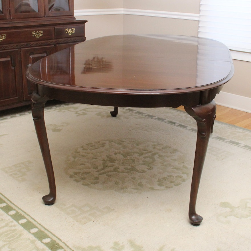"""Cherry Wood Dining Table And Chairs Ethan Allen Dining: Ethan Allen """"Georgian Court"""" Cherry Queen Anne Dining"""