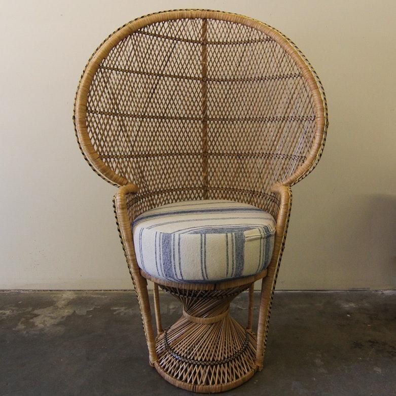 Highback Rattan Peacock Chair ...