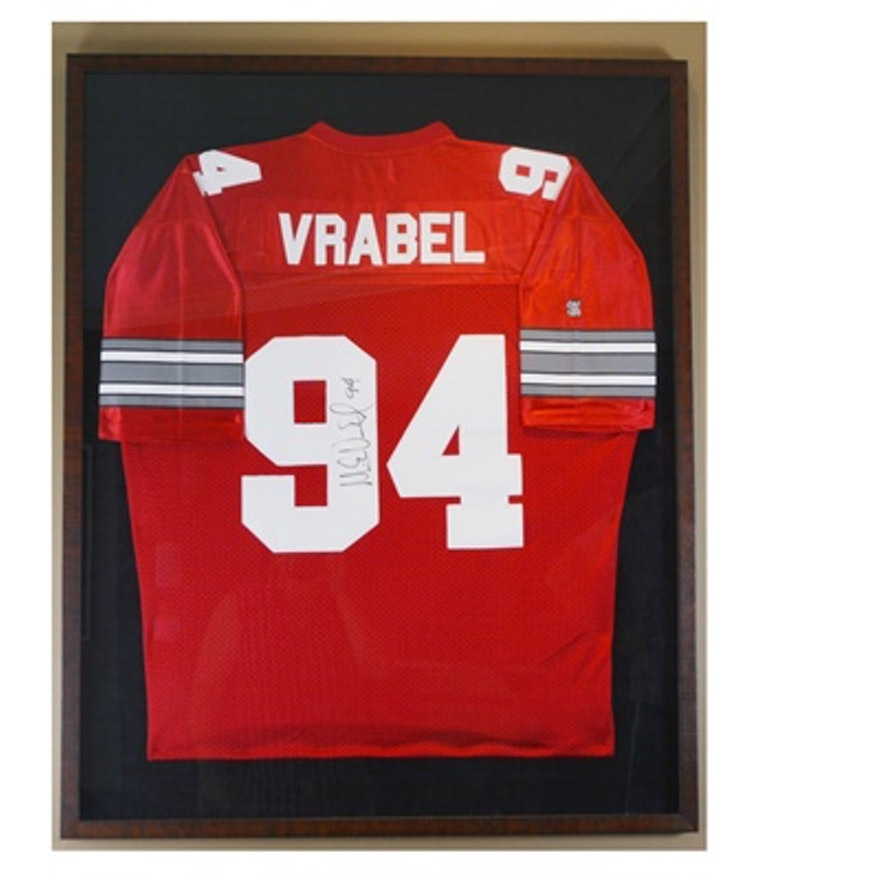 64cc994520d Framed Autographed Vrabel OSU Collectible Football Jersey | EBTH