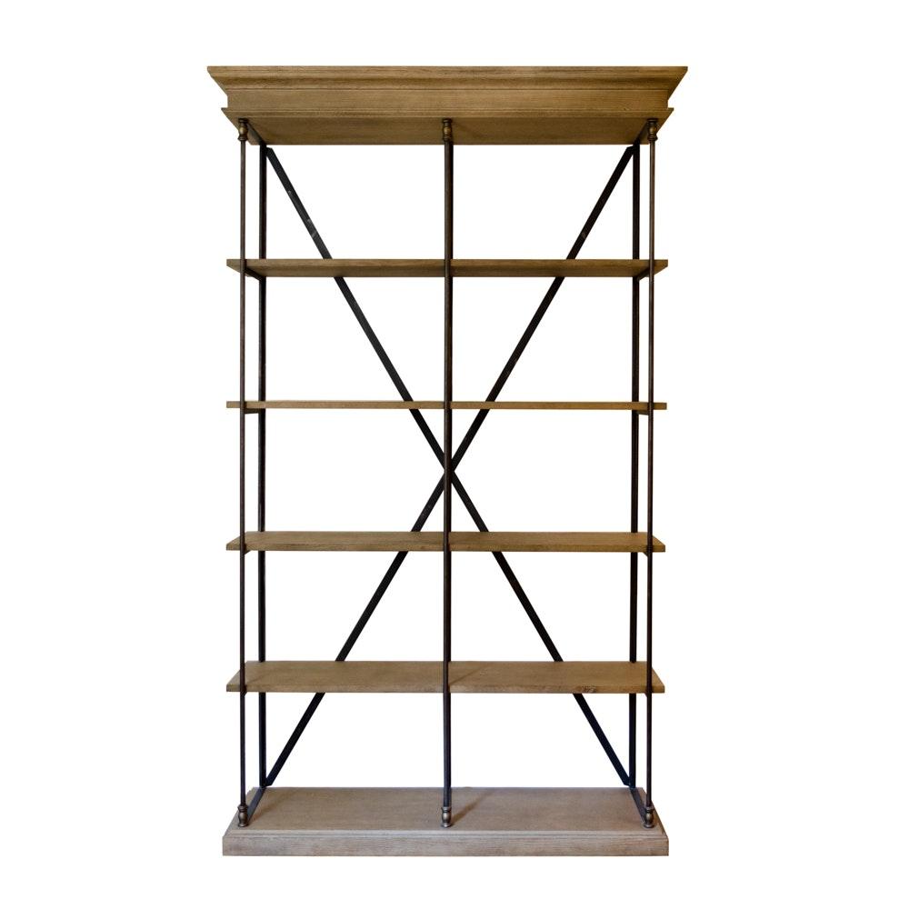 "Restoration Hardware ""Parisian Cornice"" Double Shelving Bookcase"
