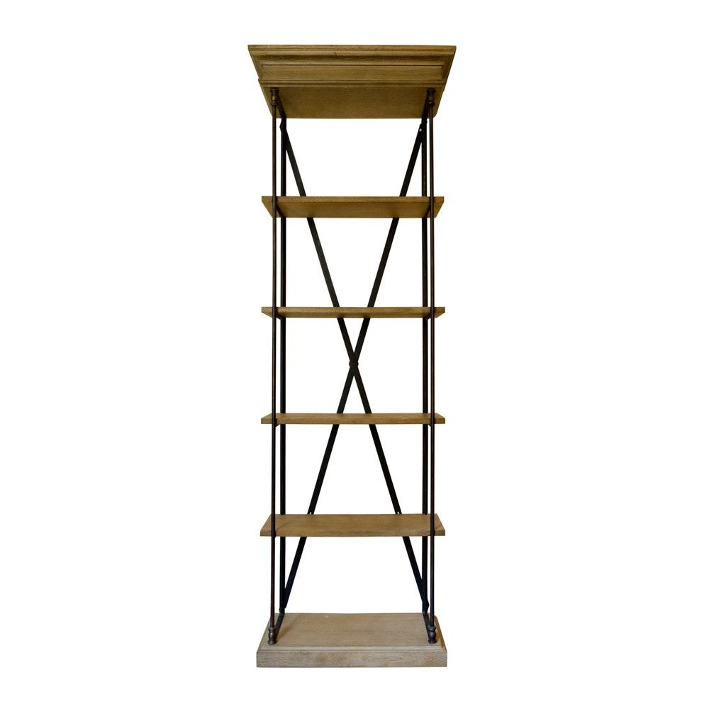 "Restoration Hardware ""Parisian Cornice"" Single Shelving Bookcase"