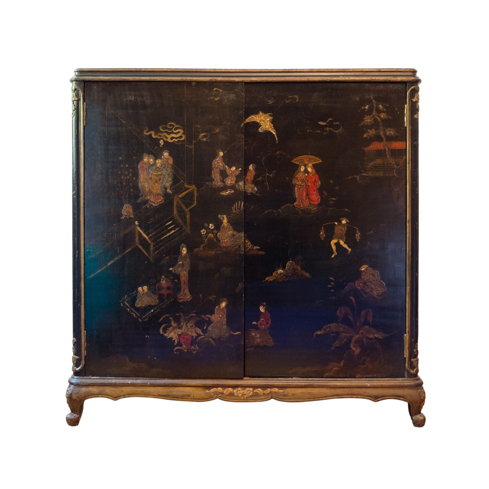 20th Century Louis XV Style Cabinet in the Japanese Taste