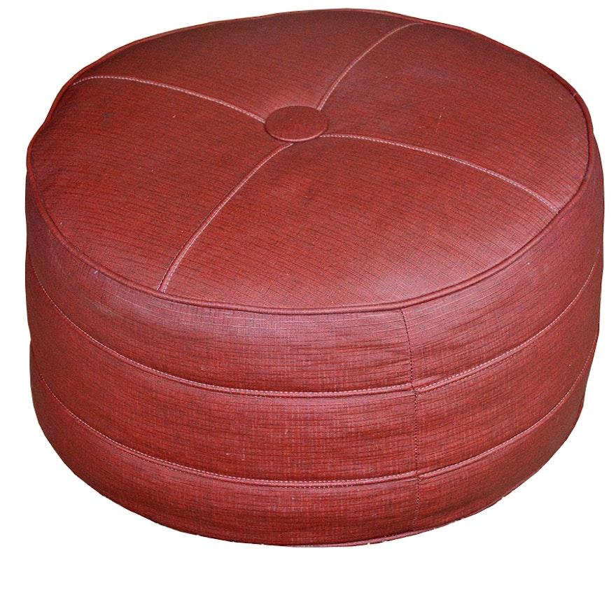 Enjoyable Vintage Round Vinyl Ottoman Beatyapartments Chair Design Images Beatyapartmentscom