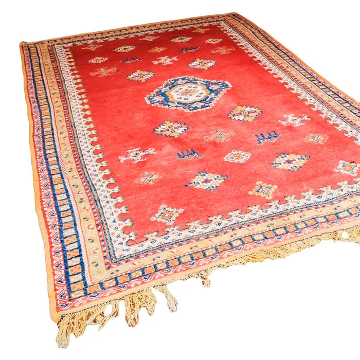 Hand Knotted Turkish Flat Weave Area Rug