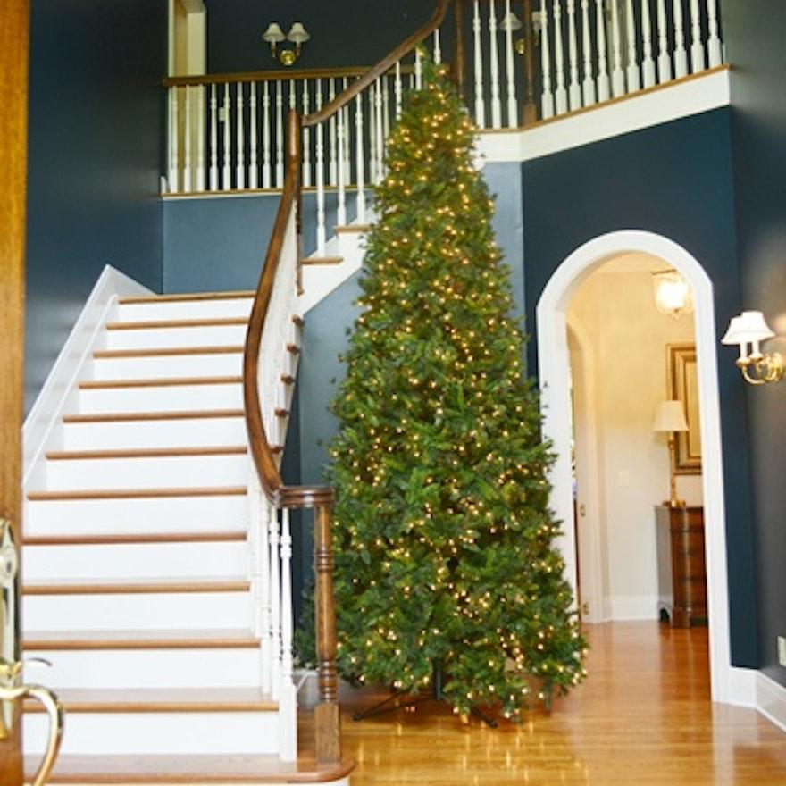 Large Illuminated 12 Yuletide Pine Artificial Christmas Tree