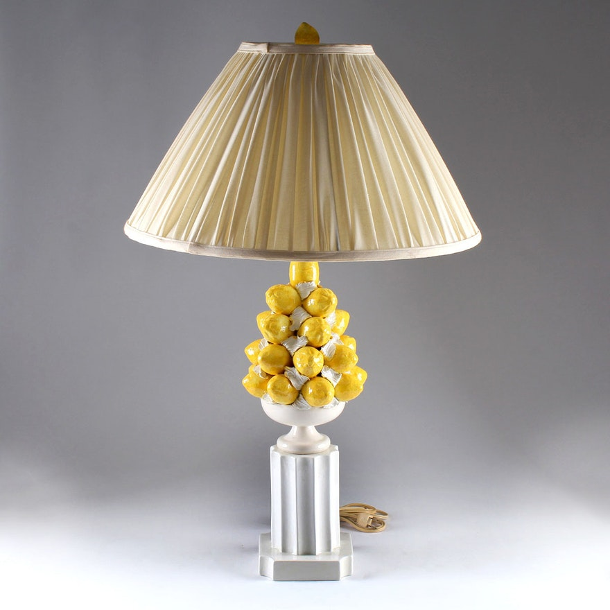 Vintage italian pottery lemon topiary lamp ebth vintage italian pottery lemon topiary lamp aloadofball Image collections
