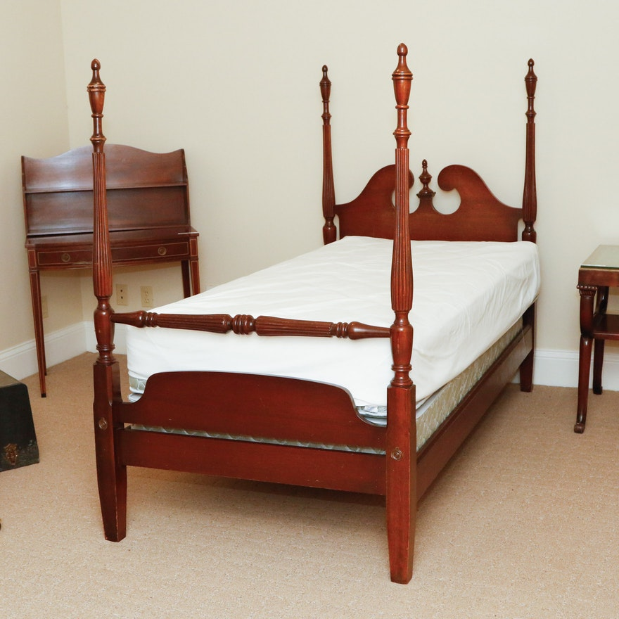 Queen Anne Style Twin Bed Frame : EBTH