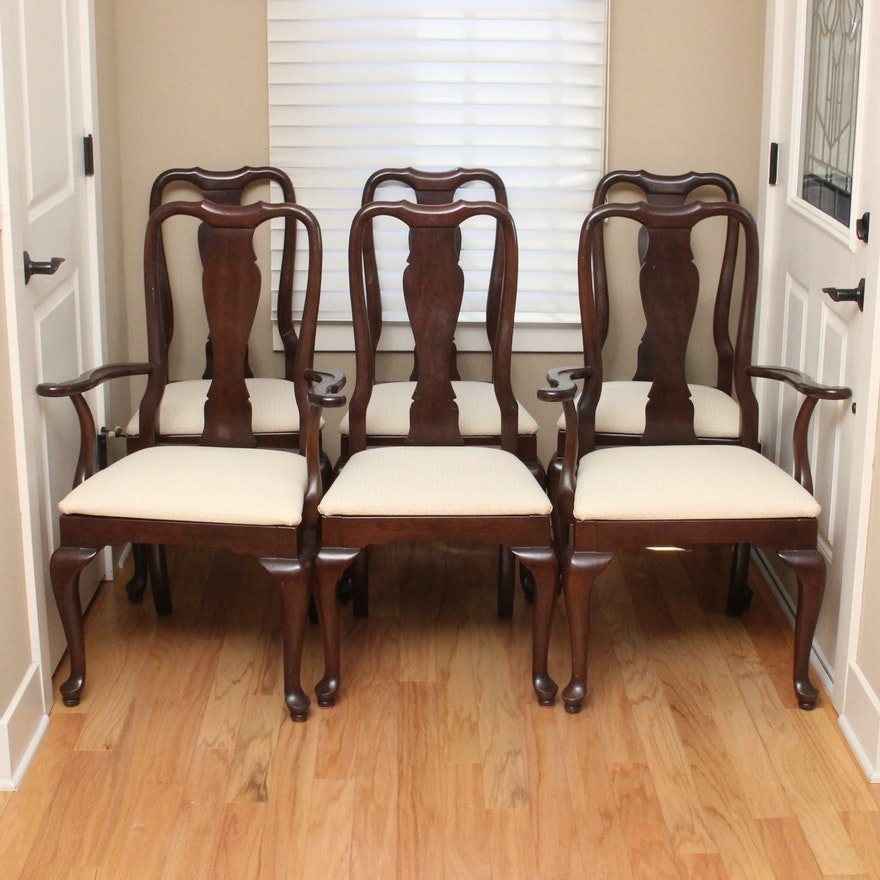Ethan Allen Georgian Court Queen Anne Dining Chairs