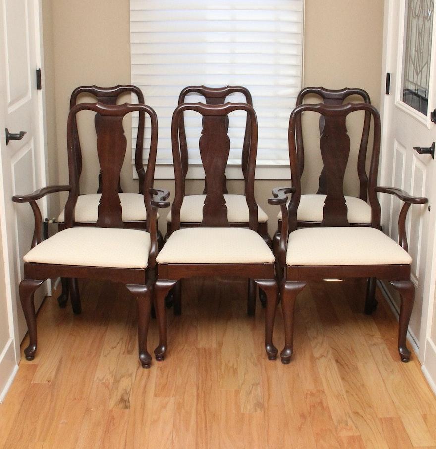 "Ethan Allen ""Georgian Court"" Queen Anne Dining Chairs : EBTH"