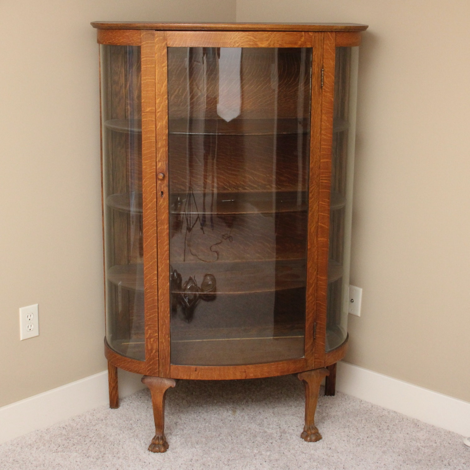 antique oak corner china cabinet antique oak china cabinet ebth 7482