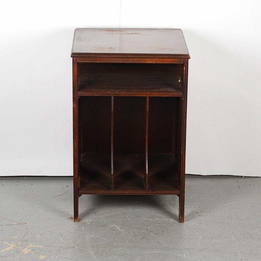 Small Vintage Mahogany Record Cabinet ...