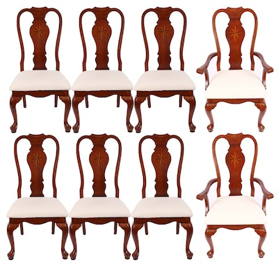 Green River Wood Queen Anne Dining Chairs - Vintage Chairs, Antique Chairs And Retro Chairs Auction In Charlotte