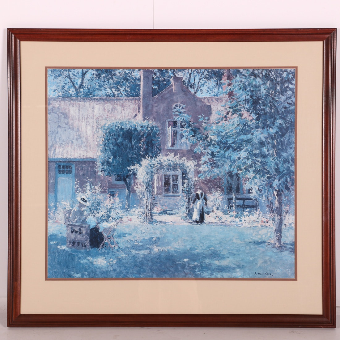 "Print After Gari Melchers' ""The Unpretentious Garden"""