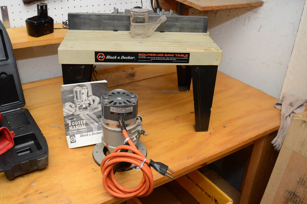 Allen Auto Sales >> Black & Decker Router, Router Table, and Other Assorted Tools : EBTH
