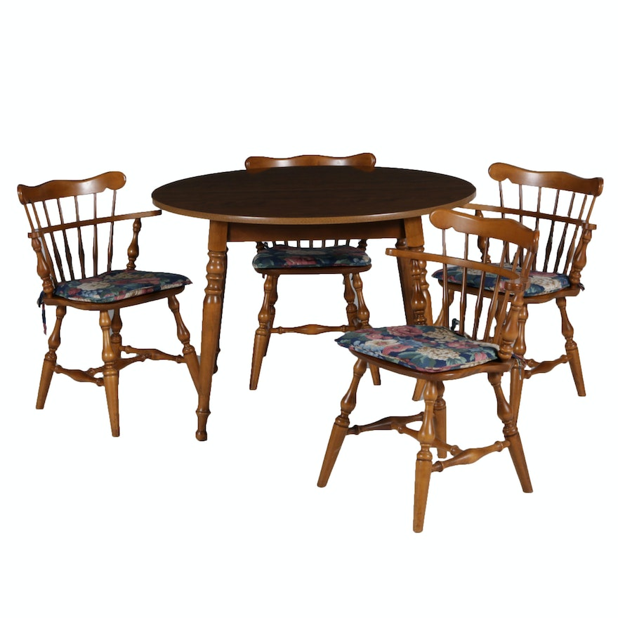 Ethan Allen Dining Room Sets For Sale: Ethan Allen Dining Table And Chairs : EBTH