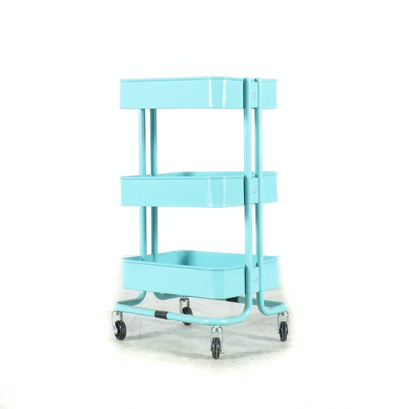 Turquoise Ikea Raskog Kitchen Utility Cart Ebth