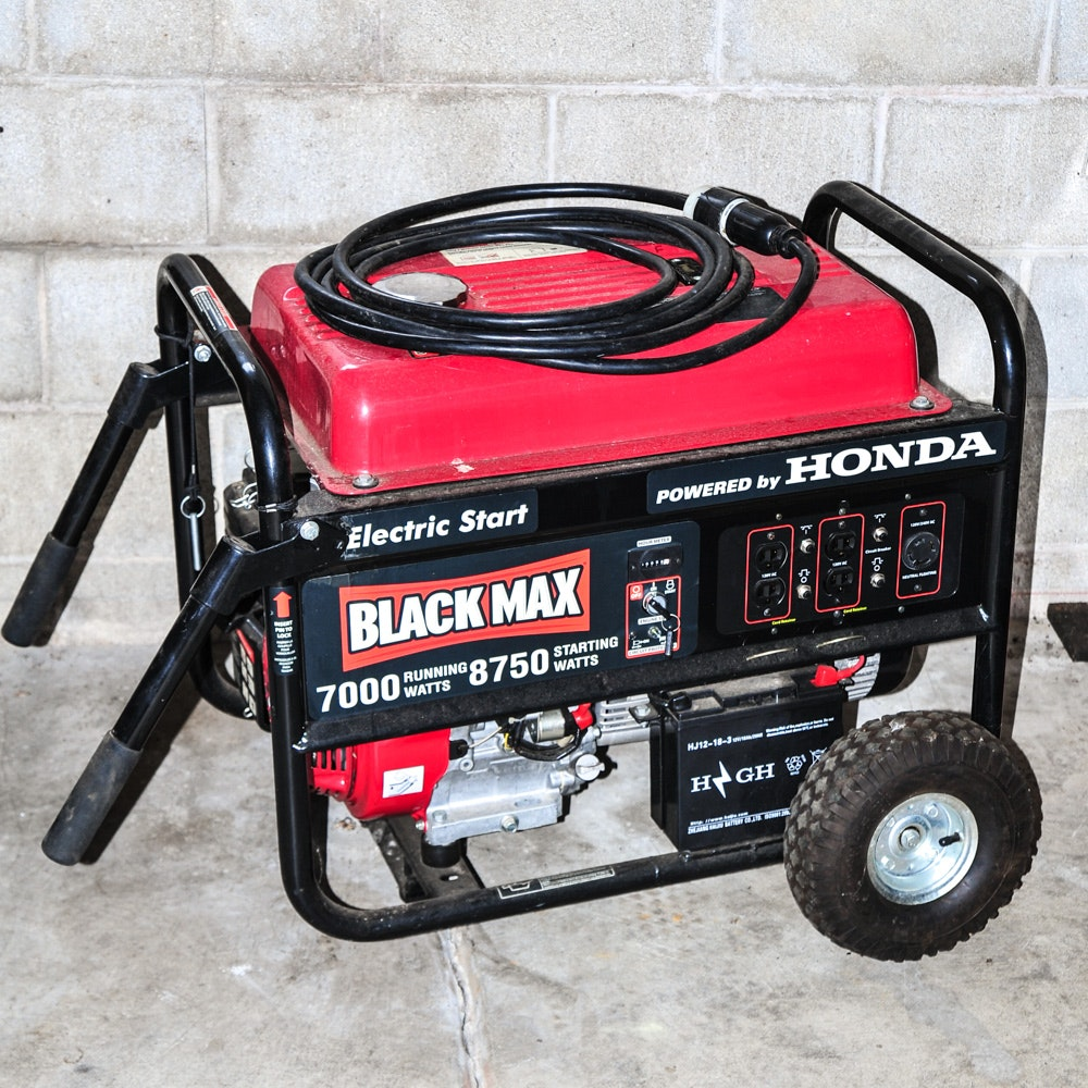 Honda Black Max 7000 Watt Generator ...